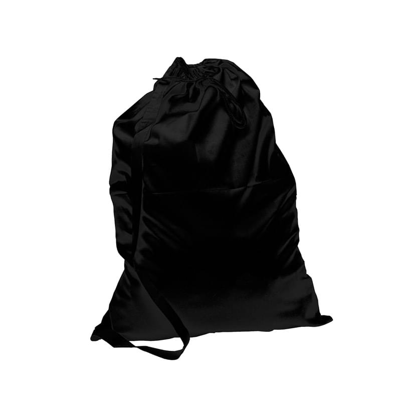 Black Laundry Bag with Shoulder Strap
