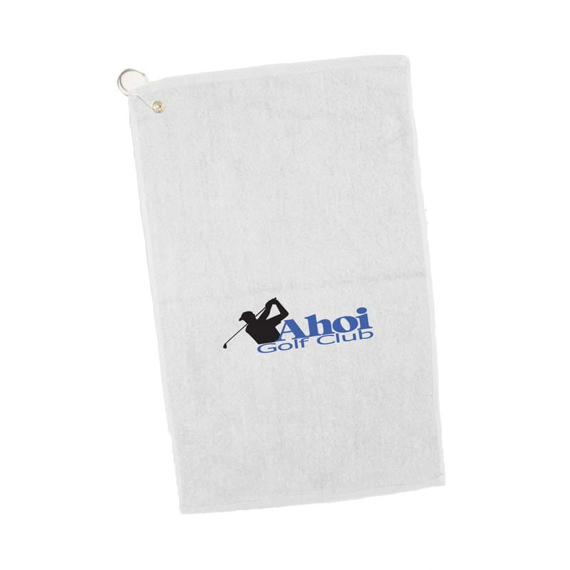 "White Velour Golf/ Hand Towel - 1 Color (16""x25"")"