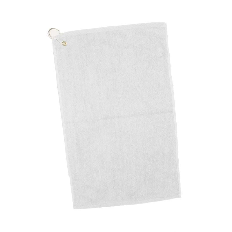 "White Velour Dobby Hem Golf/ Hand Towel - 1 Color (16""x25"")"