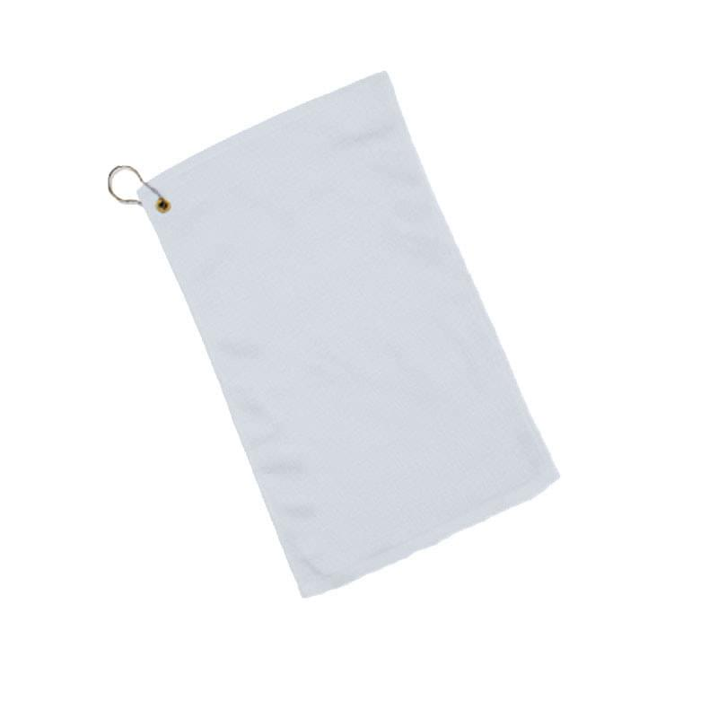"White Hemmed Velour Fingertip Towel - 1 Color (11""x18"")"