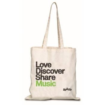 "Natural Canvas Convention Tote Bag with Shoulder Strap - 1 Color (15""x16"")"