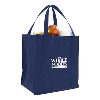 "Non Woven Grocery Bag w/ Full Gusset - 1 Color (12 1/2""x13 1/2""x8 1/2"")"