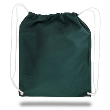 "Colored Cotton Canvas Drawstring Backpack - 1 Color (15""x18"")"