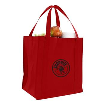 "Jumbo Heavy Duty Non Woven Grocery Bag - 1 Color (13""x15""x10"")"