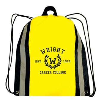 Reflective Strip Cinch Bag w/ 1 Color