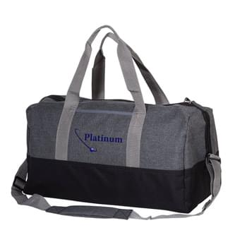 Two Tone Heathered Duffel Bag