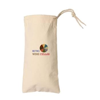 Natural Cotton Canvas Drawstring Wine Tote Bag