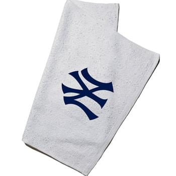 "100% Cotton Terry Rally Towel White- (16""x19"")"