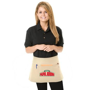 "Colored Twill 3 Pocket Waist Apron - 1 Color (24""x12"")"