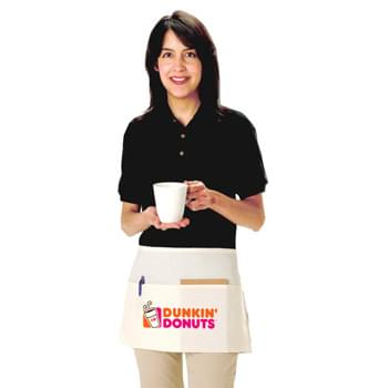 "Natural 100% Cotton 2 Pocket Waist Apron - 1 Color (24""x12"")"