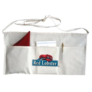 "Natural 100% Cotton 3 Pocket Waist Apron - 1 Color (24""x12"")"