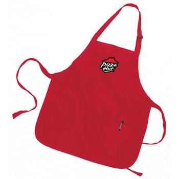 "Colored Full/ Medium Length Twill Bib Apron with Pouch - 1 Color (22""x24"")"