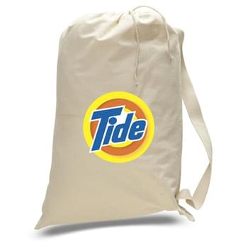 "Small Natural Canvas Drawstring Laundry Bag - 1 Color (18""x24"")"
